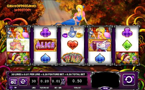 alice and the mad tea party slot machine online