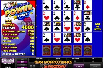 Jacks-or-Better-Power-Video-Poker
