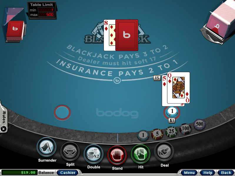 blackjack screenshot game