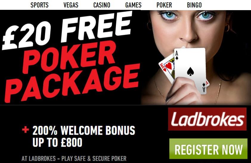 Ladbrokes poker free bonus no deposit