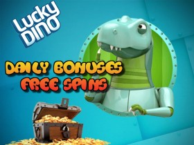 LuckyDino Casino Mon 5th ­to Sun 11th October Free Spins Fest