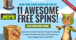CasinoJEFE Fri 29th JEFE Jackpot Wheel Spin