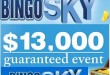 The BingoSKY Lucky $13K Guaranteed Event on Saturday September 26th