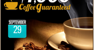 National Coffee Day 2015 promotion at CyberBingo