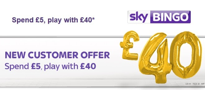 Spend £5, play with £40 at Sky Bingo this October!