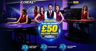 Playtech launches live casino platform for Coral Casino