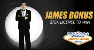 James Bonus Gives Players $70K License to Win at Jackpot Capital Casino
