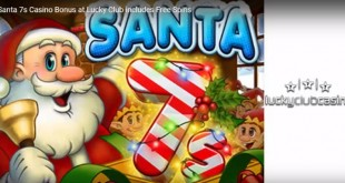 Free Spins on New Santa 7s Christmas Slot from Nuworks this Month at Lucky Club Casino