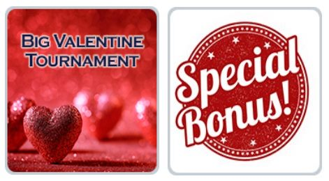 Big Valentine Tournament and Special Bonuses at Liberty Slots and Lincoln Casino
