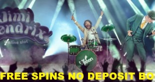 Get 20 free spins no deposit needed on new Netent Jimi Hendrix slot