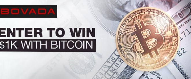 Deposit with BitCoin and could win $1K