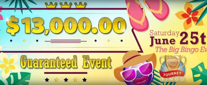 $13,000 Guaranteed Big Bingo Event at CyberBingo